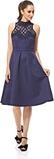 Little Mistress A Line Dress For Women - NAVY XXL