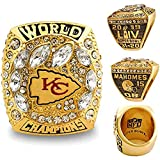 SUI Kansas City Chiefs Rugby 2019 Championship Ring Fans Collection Anillo,(Size:14,Color:con Caja)