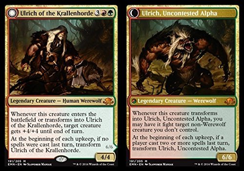 Magic The Gathering - Ulrich of The Krallenhorde // Ulrich, Uncontested Alpha (191/205) - Eldritch Moon