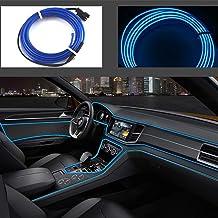 Neon LED EL cable para interior automotriz Cosplay lámpara de línea electroluminiscente LED emisora de luz decorativa con unidad de tira de luz 5V?azul, 5 m