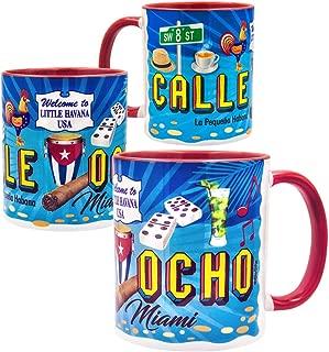 Gio Gifts Calle 8 Little Havana La Pequeña Habana Miami Coffee/Tea Cup Mug 11 Oz. Souvenir Collectible Gift