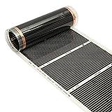 Tutoy 50Cmx3M 220V Far Infrarot Fußbodenheizung Film Kristall Kohlefaser Fussbodenheizung Film