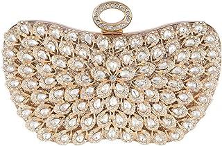 Bolso de Mano de satén para Mujer, para Fiesta o Baile de graduación, Dorado (Dorado) - 9867663299728