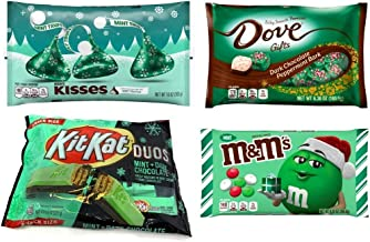 Mint Lovers Chocolate Variety Pack - KitKat Duos, Mint M&Ms, Mint Truffles, and Dove Dark Chocolate Peppermint Bark - 35.3...