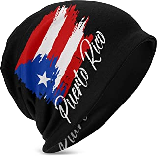 Fgeffs8 Baby Boys Girls Puerto Rican Flag Beanie Cap Quick Dry Knit Hats Great for 3-15 Years Old