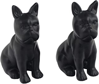 Ceramic Dog Salt and Pepper Shaker Set Easy- to refill your favorite salt and pepper in these trendy ceramic set, perfect table top accessory and Gift - (Black Boxer)