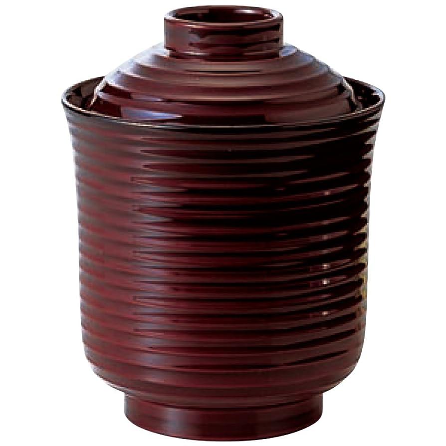 一杯眠りアルコーブ椀 : 福井クラフト 箸洗いお椀 漆器 線引溜小 φ7.7xH9.7㎝ 220cc 3-185-3