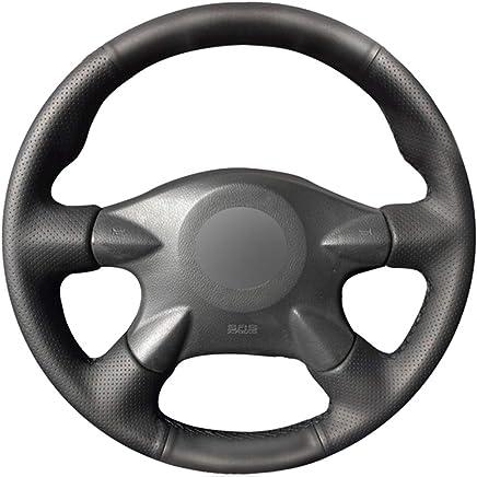FANGPAN Cubierta de Cuero para Volante, para Nissan Primera Paladin Almera N16 Pathfinder X-