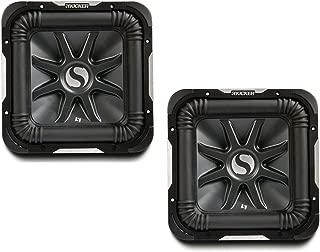 Kicker 11S10L74 x 2 Solobaric L7 Subwoofer Dual 4 Ohm 10