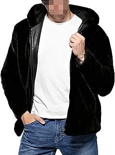 Men's Faux Fur Coat Winter Warm Casual Thicken Hood Parka Long Jacket
