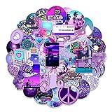 PRETTYSUNSHINE Sticker Set 50 Stück, Galaxy Aufkleber Aesthetic Vintage Sticker für Fahrrad Koffer Helm Laptop Skateboard Auto Motorrad Graffiti Stickerbomb Wasserfest