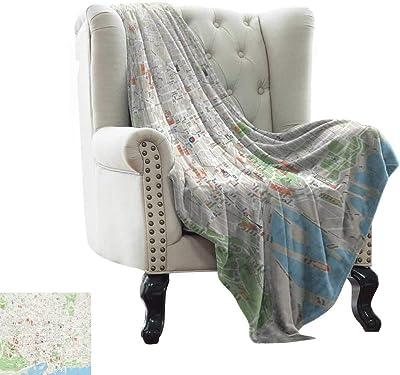 Amazon.com: BelleAckerman Patterned Blanket Watercolor ...