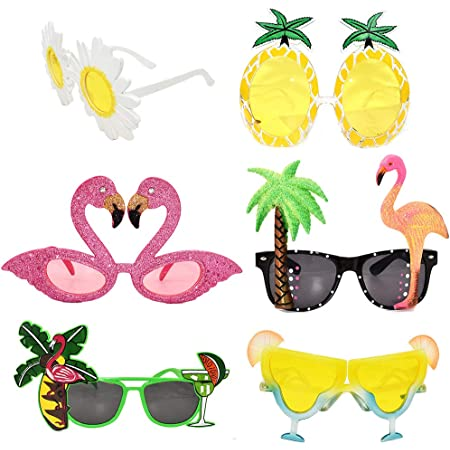 Party Glasses Funny Glasses Novelty Party Sunglasses 6 Pack Pineapple Sunglasses Tropical Sunglasses Cocktail Party Accessories Funny Sunglasses Beach Party Decorations for Adults Luau Party Supplies