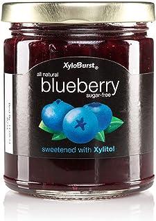 Xyloburst Sugar Free Blueberry Xylitol Jam Keto Friendly & Gluten Free, NON-GMO 10 Ounce Glass Jar - Made in the USA