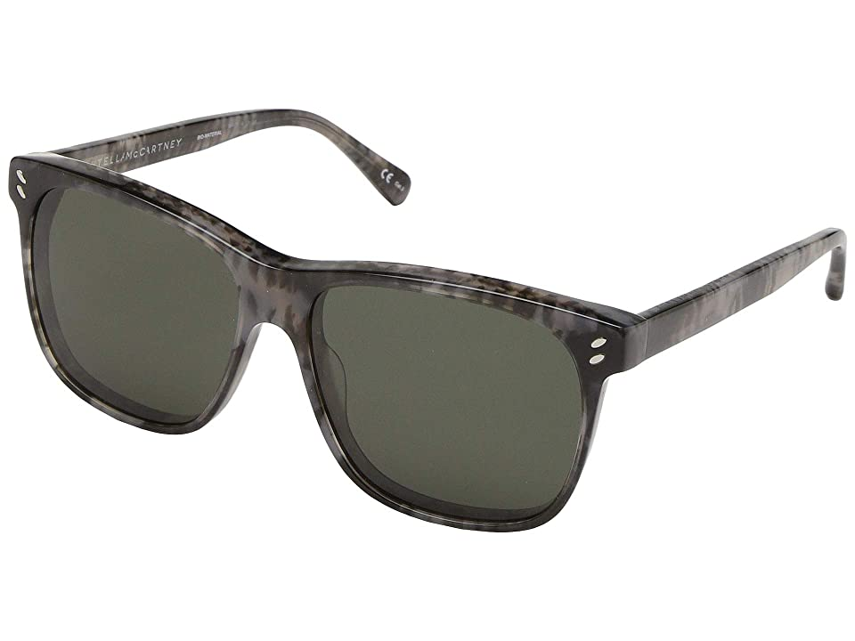 Stella McCartney SC0070S (Avana/Avana/Green) Fashion Sunglasses