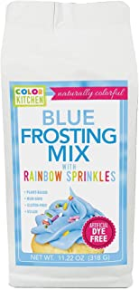 ColorKitchen Blue Frosting Mix - 3 in 1 - Frosting, Color and Rainbow Sprinkles - Naturally Colorful with R...