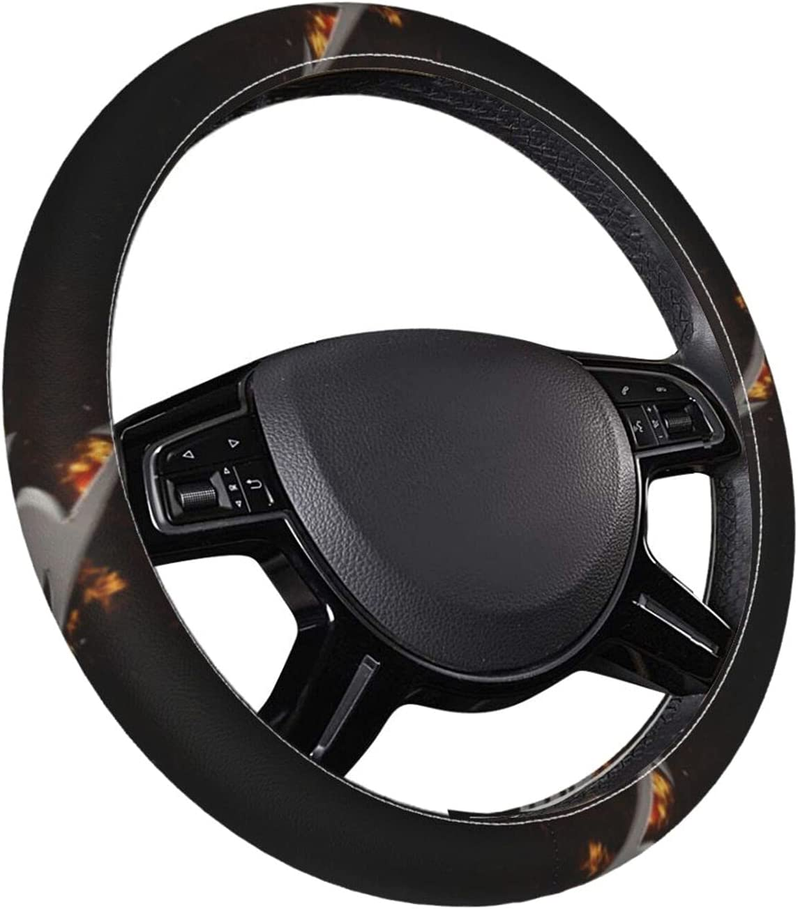 El Paso Mall Anime High quality new Fairy Tail Leather Steering Wheel He Stable Cover Non-Slip