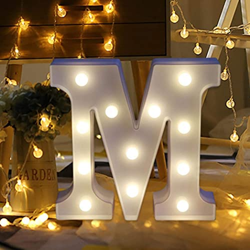 TAOtTAO Remote Control Alphabet Letter Lights LED Light Up White Plastic Letters Standing
