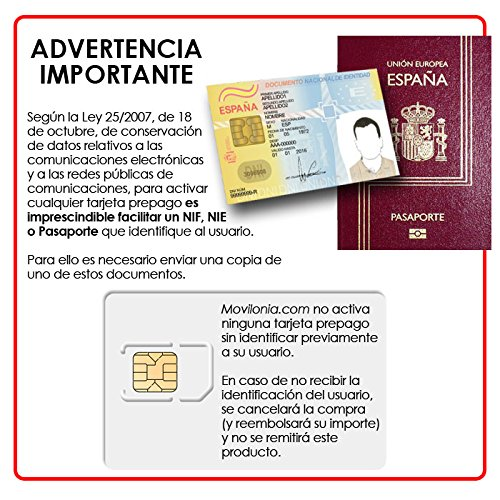 Prepaid Simkaart Orange World 4G met € 5 + € € (totaal € 10) | Alleen voor gebruik in Spanje | vereist ID-kaart, NEE of pas om te activeren.
