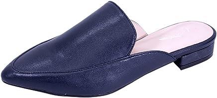 c2701b3d07808 Peerage Maggie Women Wide Width Low Heel Pointed Toe Dress Mule (Size and  Measurement Charts