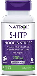 Natrol 5-HTP Mood and Stress, 200mg, 60 Tablets