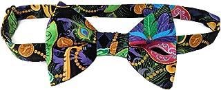 Mens Bow Tie Mardi Gras Masquerade Mask Fleur De Lis Pre-tied