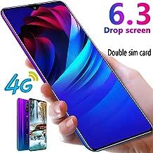 L-PH Android 9.1 10 Core Fingerprint Face ID Unlock Smart Phone/6.3 inch Dual 4G LTE +Dual SIM Big Screen Phone Gradual Blue (Color : 3+64g)