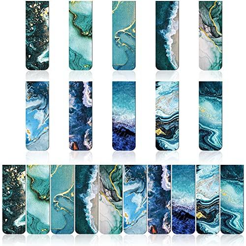 Magnetische Lesezeichen Magnet Seiten Markierungen Vielerlei Lesezeichen Langlebige Magnetische Buchzeichen für Schüler Lehrer Lesen, Multi Ozean Muster (20)