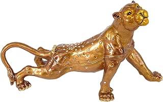 RUCINNI Lioness Jeweled Trinket Box with Swarovski Crystals (RB1960BN)