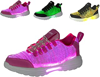 Women Men Kids Fiber Optic LED Shoes Light Up Sneakers with USB Charging Flashing Festivals Party Dance Luminous Shoes