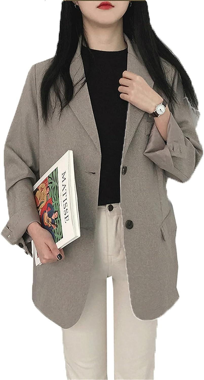 Retro Solid Blazer Set Single-Breasted Jacket & Pencil Skirt 2 Pieces Female Office Ladies Blazer Suit