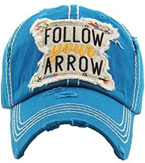 KBETHOS Hats Follow Your Arrow Women's Vintage Baseball Hat Cap