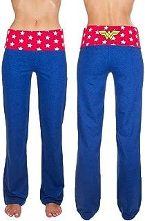DC Comics Wonder Woman Yoga Pants (Large) Blue
