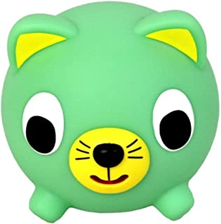 Jabber Ball Cat - Green Japanese Chattering Animal Squeeze Toy Oshaberi Doubutsu