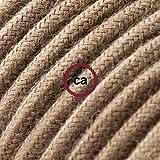 creative cables Cable Eléctrico Redondo Recubierto en Algodón Color Sólido Marrón RC13-10 Metros, 3X