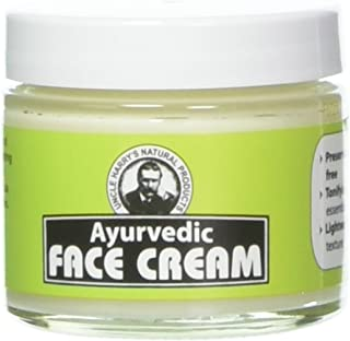 Uncle Harry's Ayurvedic Face Cream (2 Oz Glass Jar)