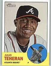 2012 Topps Heritage #454 Julio Teheran NM-MT SP Atlanta Braves Official MLB Baseball Card