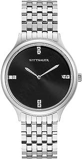 Wittnauer Women's WN4097 Quartz Diamond Accent Black Dial Silver-Tone 36mm Watch (Renewed)