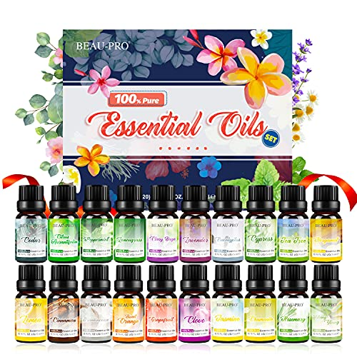 Ätherische Öle Set für Aroma Diffuser,100% Pure Naturrein Ätherisches Öl,Aromatherapie Duftöl Geschenkset,Top 20 x 5ml Essential Oils Set für Luftbefeuchter,Duftlampen,Seife,SPA,Massage