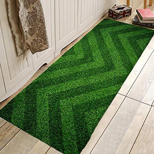 Alfraza para exteriores al aire libre Creativa impresión 3D Footbal campo Pasillo de alfombras y tapetes for el dormitorio de la sala Moqueta Cocina Cuarto de baño antideslizante Tapetes A prueba de l