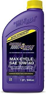 Óleo de motocicleta sintético Royal Purple Max Cycle 10W-40 de alto desempenho
