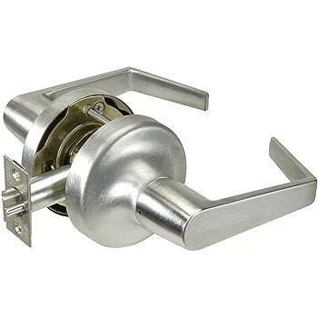 Grade 2 Storeroom 626 Satin Chrome Brass//Steel//Zinc//Stainless Steel Yale Security AU 5305LN 626 380N 2-3//8 Backset