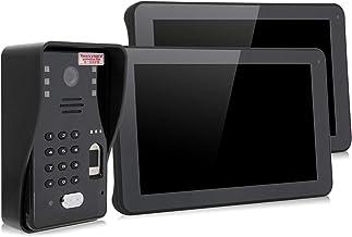Videoportero Sistema telefónico Timbre Cámara Monitor capacitivo multipunto de 9 pulgadas Pantalla táctil Versión nocturna...