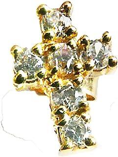Or 9 Carats Elegance Jewellery Boucles doreille clous en forme de pistolet
