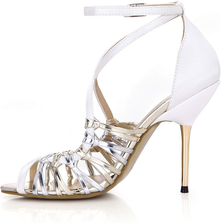 11 cm Thin Heels Hollow Out shoes Woman Sexy Buckle Sandals SM Sandalias Brautschuhe Pumps