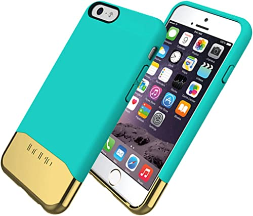 popular Incipio lowest Edge Chrome Shock-absorbing Case for Apple iPhone outlet sale 6/6S - Teal/Gold outlet sale