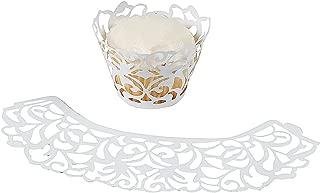 Fun Express - White Die Cut Cupcake Collars (2dz) for Wedding - Party Supplies - Serveware & Barware - Misc Serveware & Barware - Wedding - 24 Pieces