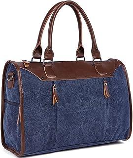 Reisetasche aus Segeltuch für Frauen, große Kapazität, Dicke Freizeit, tragbare Mode, einfache Schulterschräg über Männer und Frauen, allgemeine Reisetasche. Boutique, Marineblau Blau - wang5997
