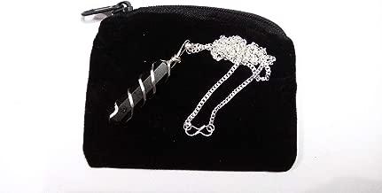 WholesaleGemShop Black Tourmaline Crystal Pendant Necklace Healing Authentic Stone On Silver Plated 20