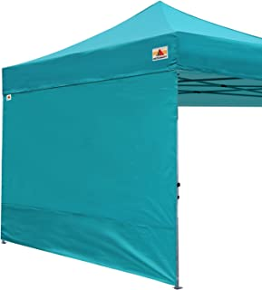 ABCCANOPY Instant Canopy SunWall (15+Colors) for 10x10 Feet, 10x20 Feet Straight Leg pop up Canopy, 1 Pack Sidewall Only, Turquoise